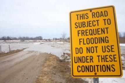 Nith River spring flood