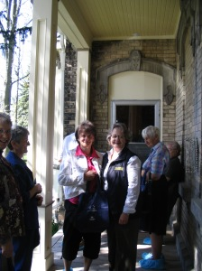 Lioness Mary Pfaff welcomes guests on the Welcome Home Tour on May 24.