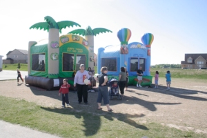 Inflatable jumpers, a road hockey tournament, silent auction, carnival-style games and a ton of other activities drew crowds to Baden School Thursday evening for the Bulldog Backyard Barbecue.
