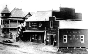 c. 1900 Conrad L. Forler Shop and cider mill at the corner of Erb's Road and Regional Road 5.