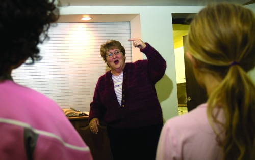 Adele Hand, conductor of the group, directed the many youth practicing new gospel music the group will sing. The Nith Valley Singers, a local group of vocalists, were open for registration to new members last week.  Tim Murphy, Independent staff