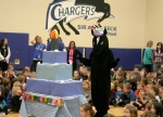Sir Adam Beck's one-year anniversary was staged as a birthday party for the school's mascot, Lightning.